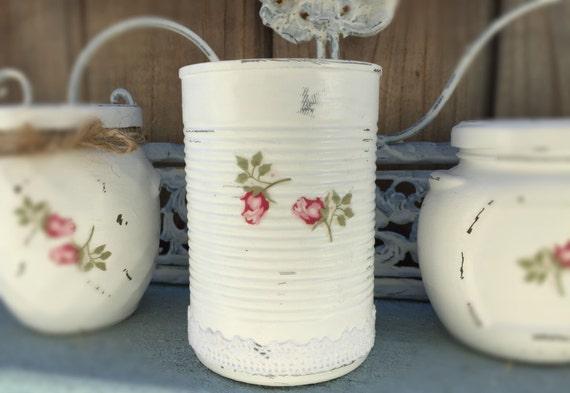 Bianco Shabby Chic Latta Lattine Rosebud Rose Lacy Pizzo Vaso Decorativo Tavolo Centrotavola Nuziale Matrimonio Casa Dormitorio Nursery Decorazione