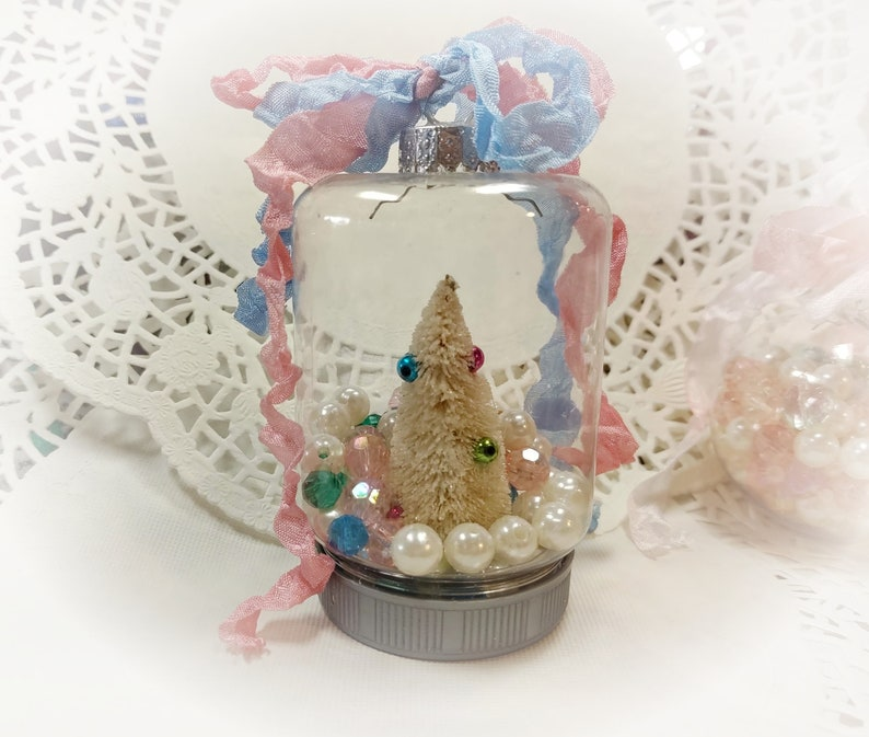Christmas Tree Ornaments  Shabby Chic Ornament Clear image 0