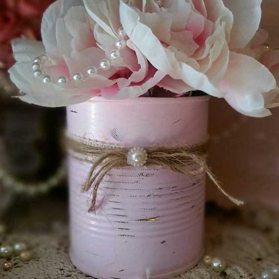 Pink Shabby Chic Tin Can Vase Rustic Distressed Table Centerpiece Wedding Reception Baby Shower Party Home Decor Decoration Hostess Gift By Sweet Vintage Designs Catch My Party,Home Design Cad Software Reviews