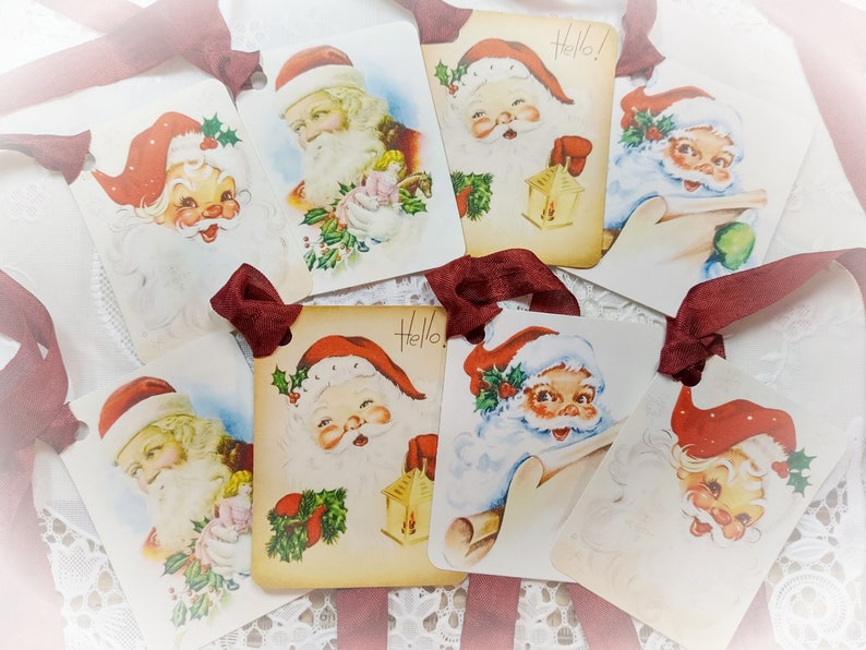 8 Traditional Santa Clause and Satin Ribbons  Father image 0