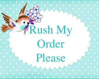 Please Process My Order Fast -- Bump To The Front of the Line -- I Need My Order In A Hurry -- Please Rush My Order