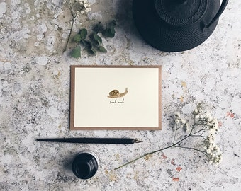 Snail Mail greetings card