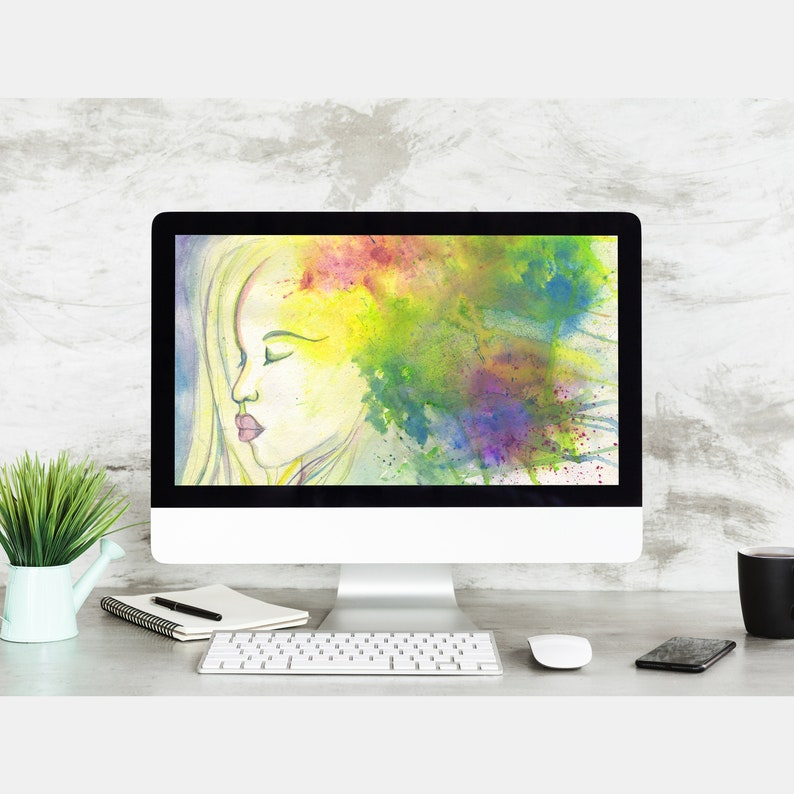 Ostara  Goddess of spring time  painting for digital desktop image 0
