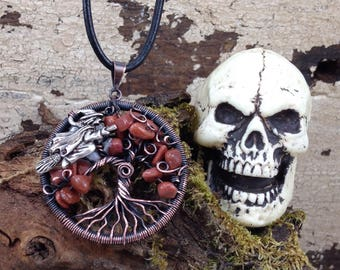 "Tree Of Life, Tree Of Life Necklace, Halloween Jewelry, ""The Witching Hour"", Fall Jewelry, Tree Jewelry, Witch Jewelry, Tree"