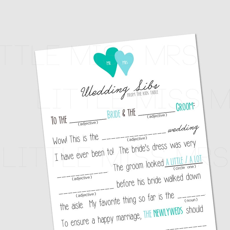 photo about Wedding Mad Libs Printable titled Nuts Libs Marriage - Mailing Wedding day Invites