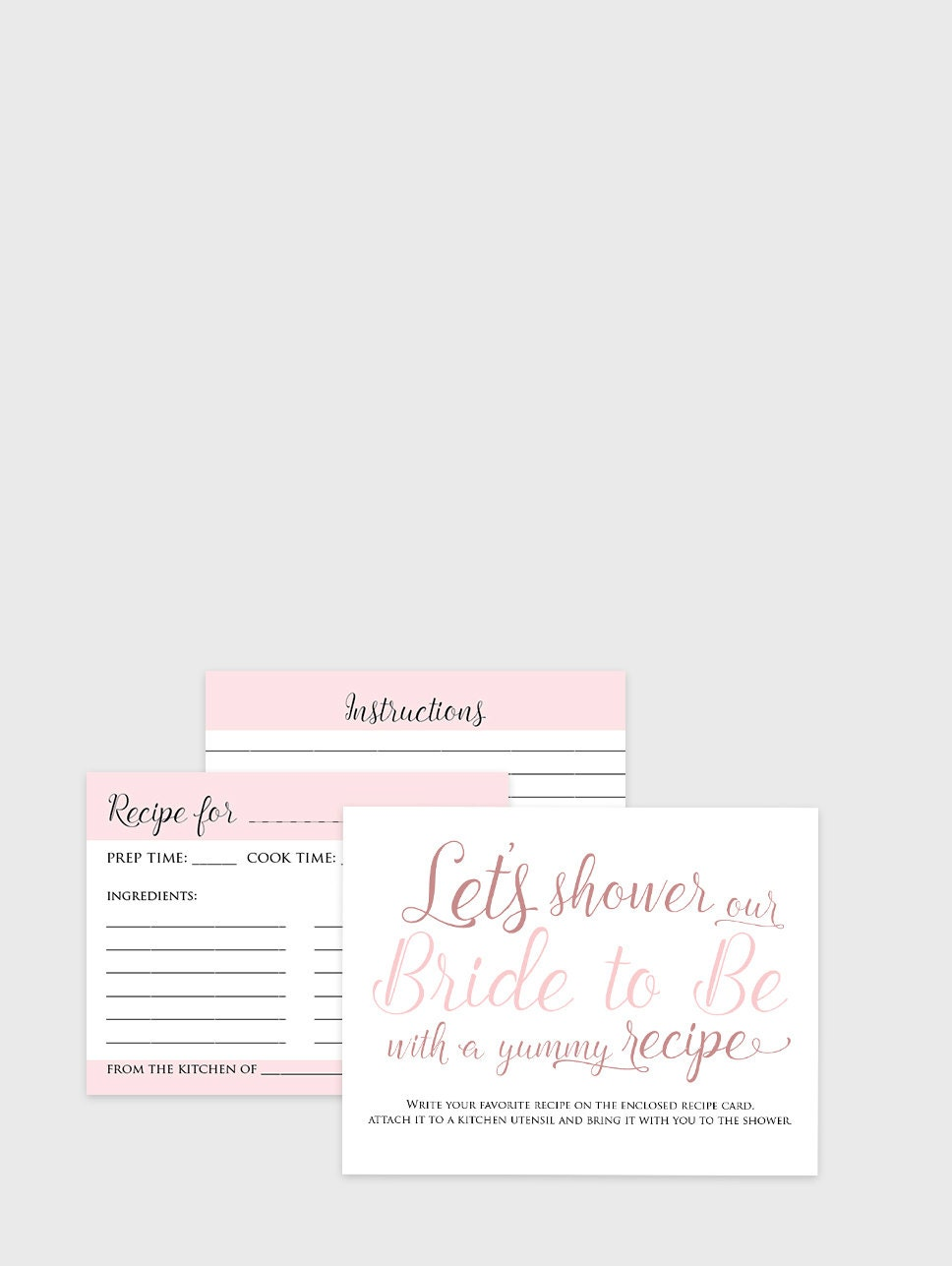 bridal recipe cards instant download printable bridal shower recipe card game instructions cards and table sign