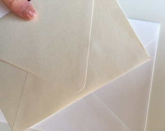 200 Shiny Champagne (ivory) shimmering envelopes - Size A6 (Wholesale Pricing- only one available!)