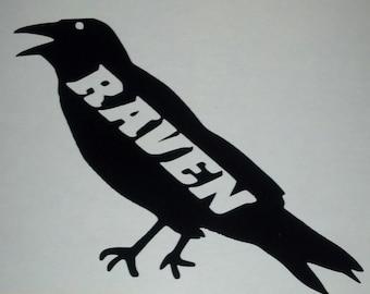 5'' Raven vinyl decal