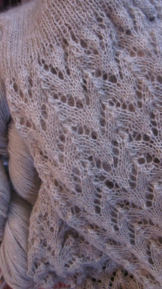 Southern Alps Scarf Knitting Pattern Possum Silk Merino Lace Yarn