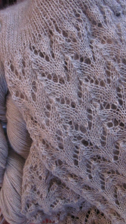Southern Alps Scarf Knitting Pattern Possum Silk Merino Lace Etsy