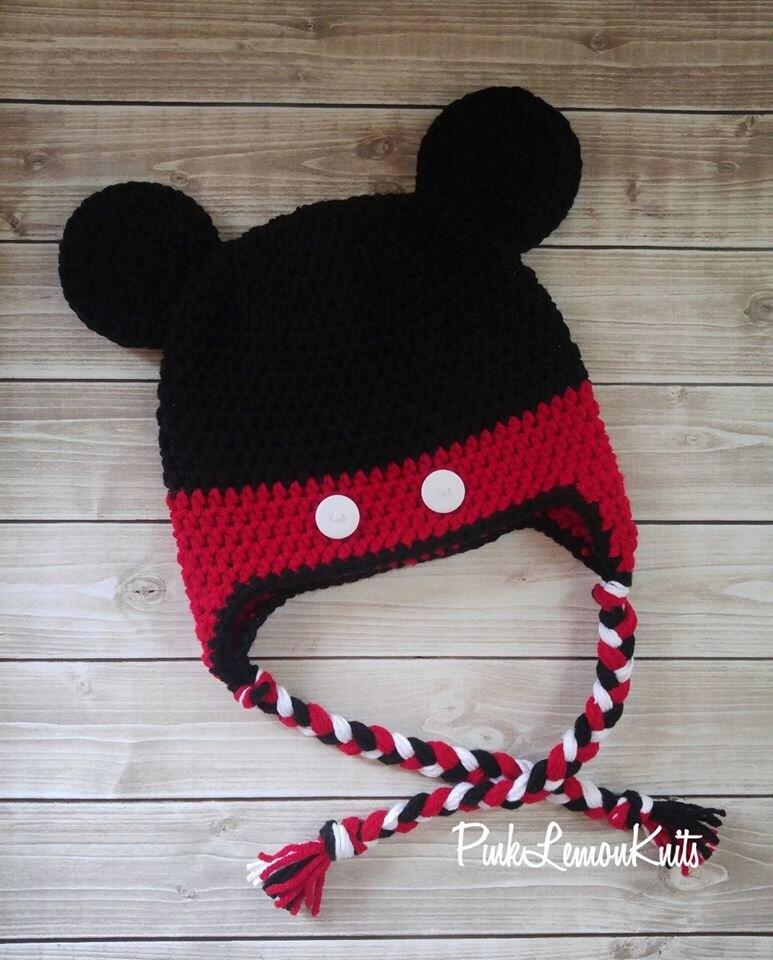 Micky Maus Hut häkeln Micky Hut Baby-Foto-Stütze Baby Tier   Etsy