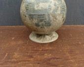 vintage moon globe, replogle moon lunar 1960s tin globe