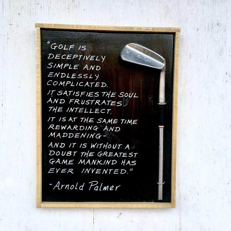 Golf Gift/ Golf Sign/ Golf Art/ Arnold Palmer Golf is... image 0