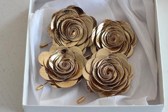 Goldene Blume Anstecknadel Gold Hochzeit Boutonniere Gold Revers Blume Pin Rose Ansteckblume Blumen Anstecknadel Männergeschenk Hindi Hochzeit