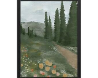 Framed poster Albian Basin Utah Mountains Painting