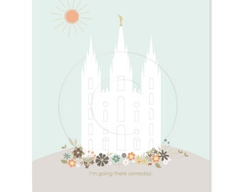 SMALL Temple Printable file - 5 x 7 inch - Printable digital file - Instant Download - Lulu