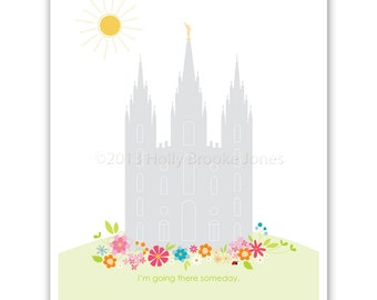 LDS Temple Printable file - 20 x 30 inch - Printable digital file - Instant Download - Summer