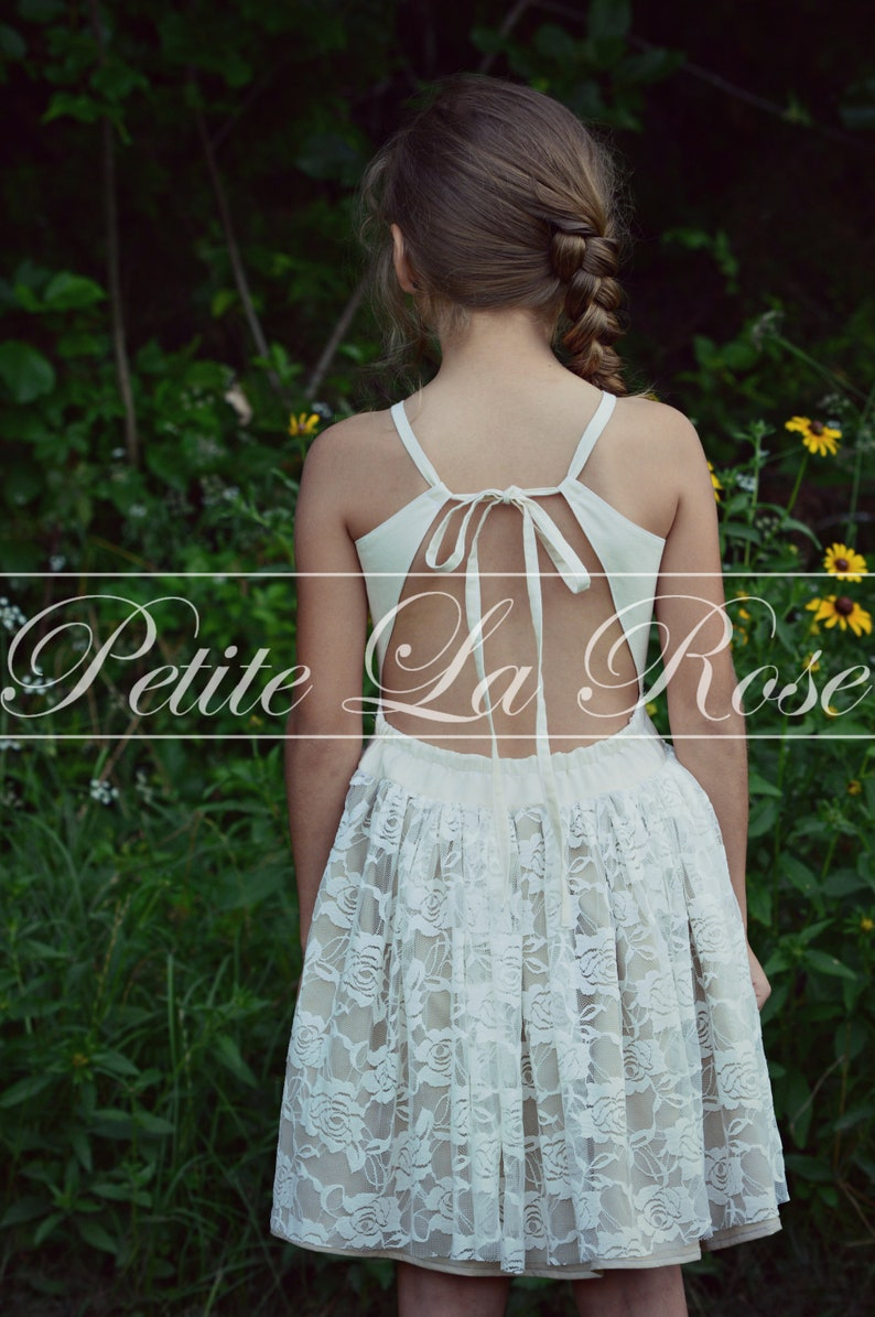 d1e19aa20a5 Boho Lace Sundress Size 6 Flower Girl Rustic Country Wedding