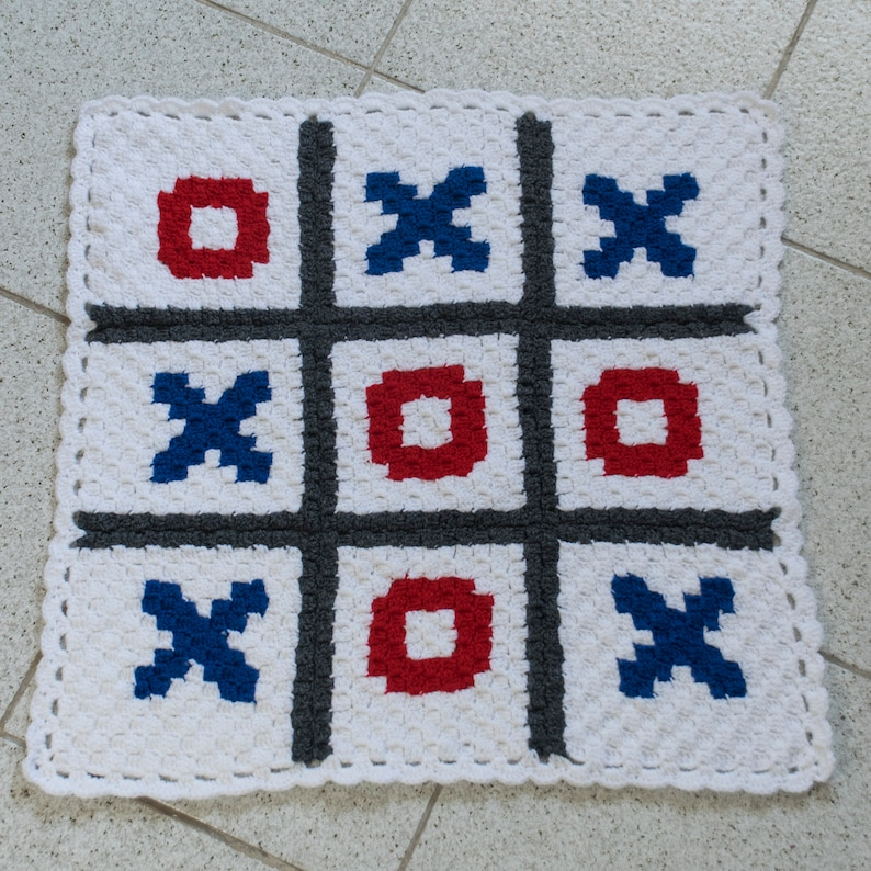 Tic tac toe Graph Crochet Pattern with Corner to Corner (C2C) written  instructions for your own unique baby blanket-Baby Graph Pattern Chart