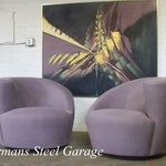 Reserved for Tricia - Vladimir Kagan Swivel Chairs(Pair)
