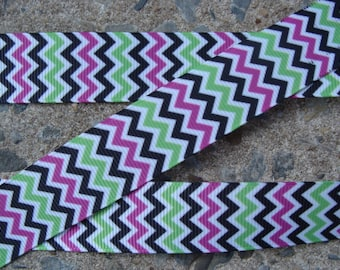 "SALE 2m x 7//8/"" CHEVRON ZIG ZAG GLITTER PICK COLOUR Grosgrain Ribbon BOWS CRAFT"
