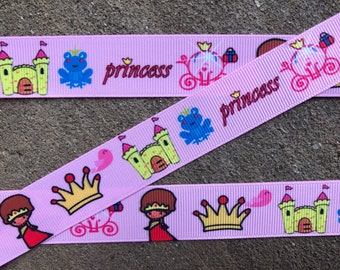 "7//8/"" 2YARDS Tinkerbell Grosgrain Ribbon Scrapbks Crafts Hair Bow Cards Gift Wrap"