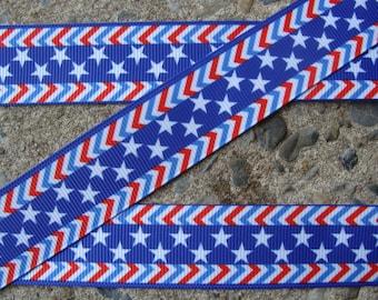 """3 yards Color Stars Ribbon 7/8"""" Ribbon Printed Ribbon Hair Bow Ribbon Holiday Ribbon"""