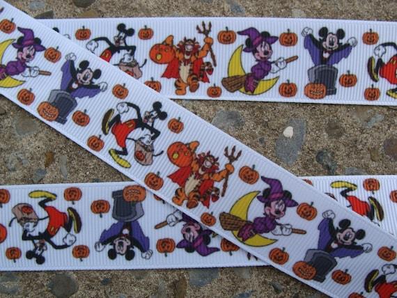 """3 metros 7//8/"""" Minnie Mickey Mouse Vacaciones//Navidad Cinta del Grosgrain"""