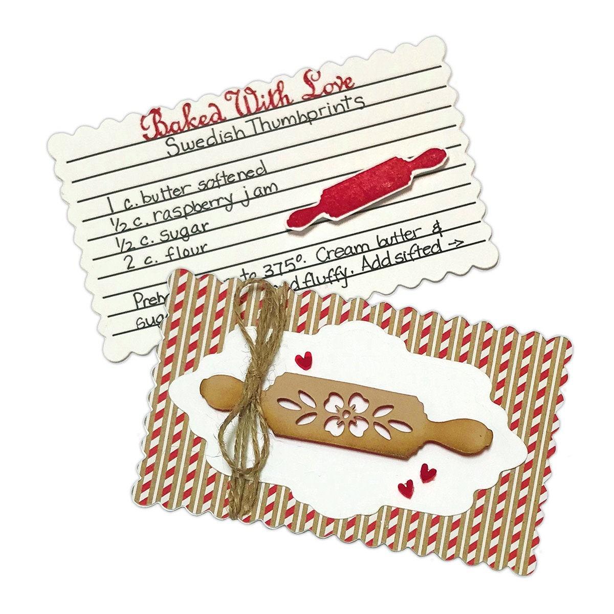 Carte de recette, timbre Sowell & Die ensemble (un joyeux Noël) par elodie Sowell timbre - dentelle est FDS-159 85bc42