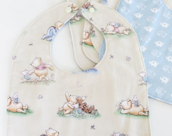 Winnie the Pooh Baby Bib with Waterproof Backing