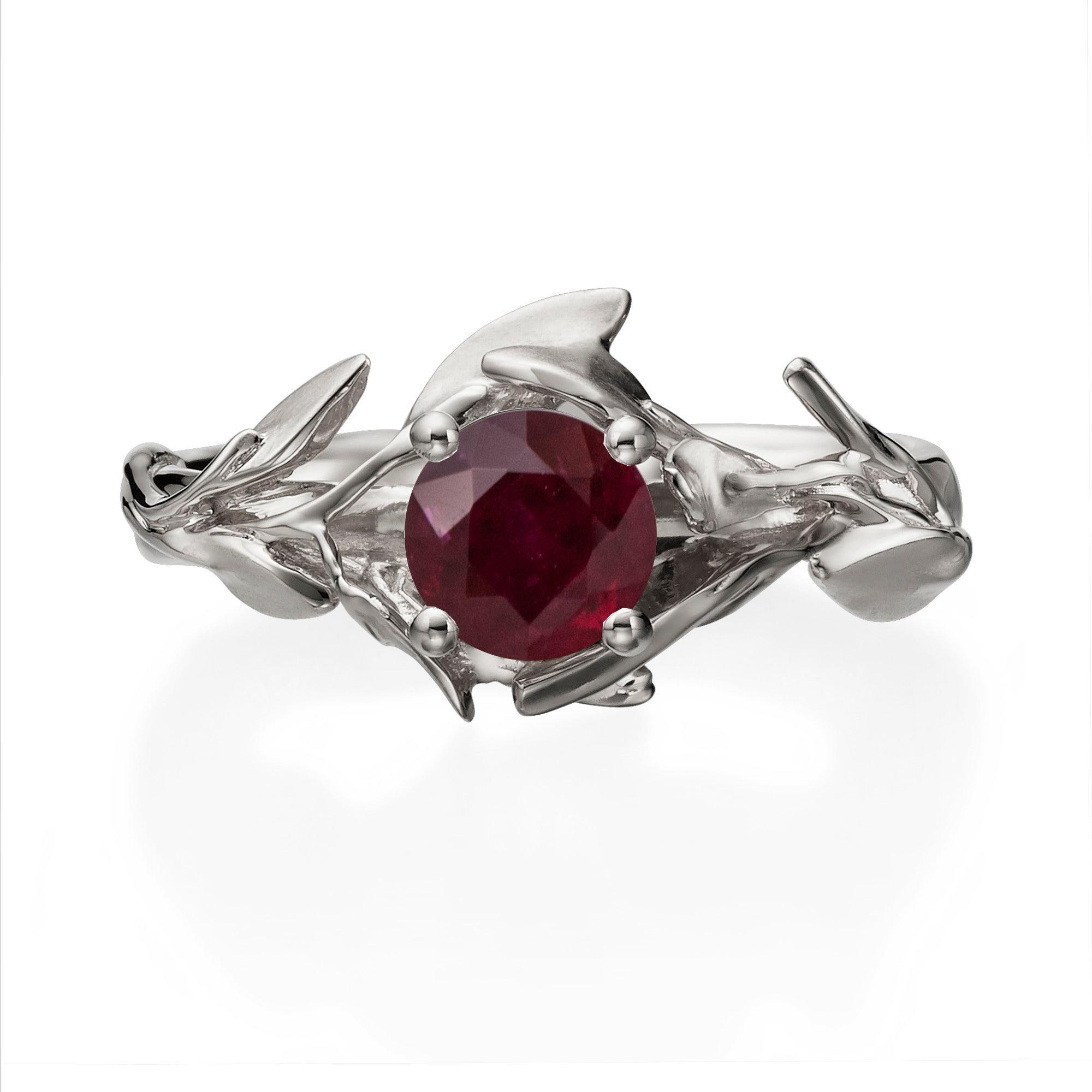 50: Ruby Wedding Ring Set 18k At Reisefeber.org