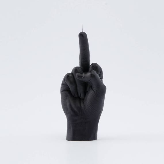 SECRET SANTA GIFTS REALISTIC NOVELTY CANDLE Hand FCK//PEACE Finger Candle