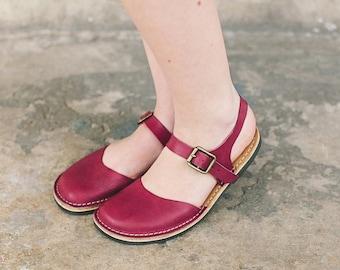 1f75a212e510e Marsala sandals | Etsy
