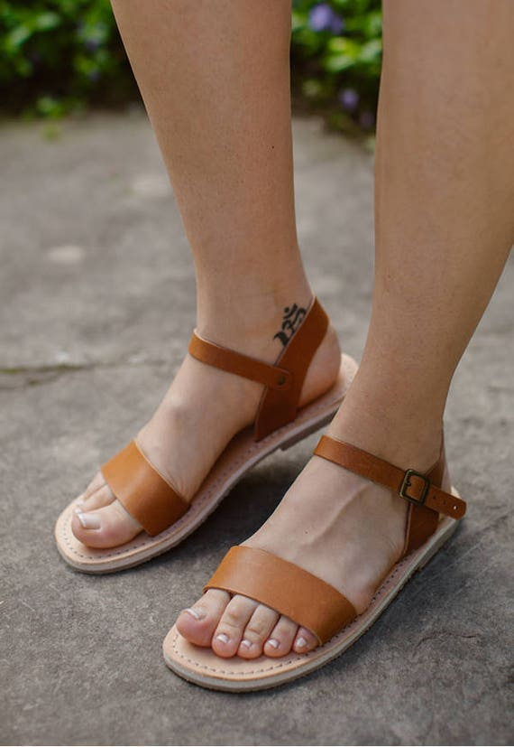 Summer Brown Sandals Shoes Sandals Summer Sandals Sandals Camle Handmade Leather Sandals Sandals Leather xIRTSE