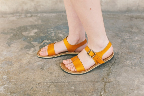 Sandals Sandals Handmade Sandals Leather Shoes Women New Leather Sandals Sandals Sandal Sandals Mustard Summer Summer wBXgqq