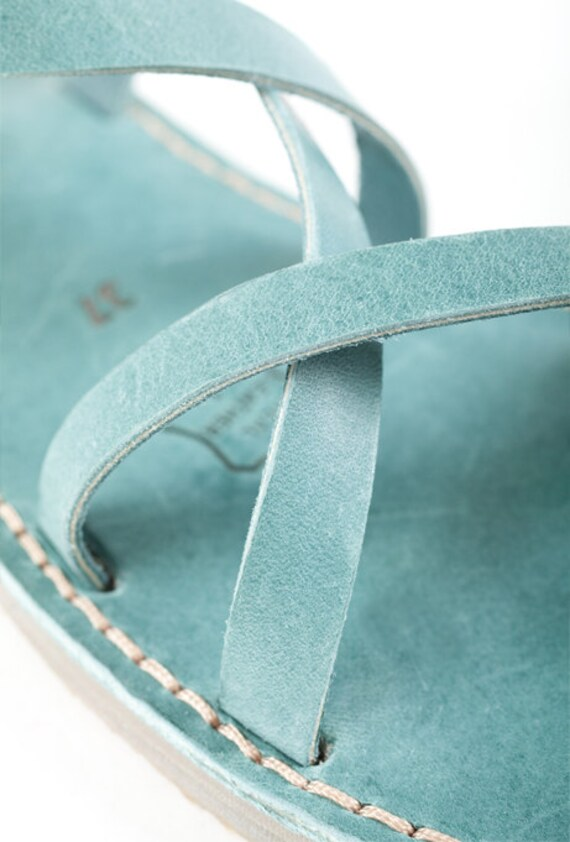 Strappy Greek Sandals Leather Gladiator Summer Sandals Flats Sandals Women Strap Leather Blue Shoes Two Sandals Sandal Summer Sandals fqwaHF