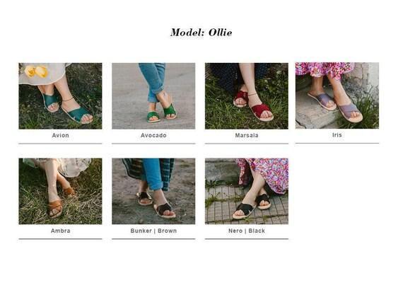 cuir cuir sandales En tongs d Sandales femme en noirs chaussures 0wwdqXv