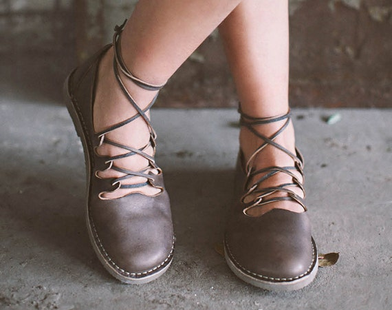 Gladiator Shoes Straps Gladiator Shoes Casual Shoes Vintage Brown Shoes Vintage Shoes Lace Up Shoes Lace-Up Shoes Leather Flats