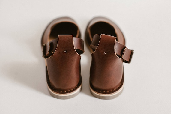 Leather Ankle Leather Shoes Brown Flat Sandals Sandals Brown Slip Flats Sandals Brown Ons Strap Shoes Casual Loafers Shoes Summer xAY6dwn4Bq