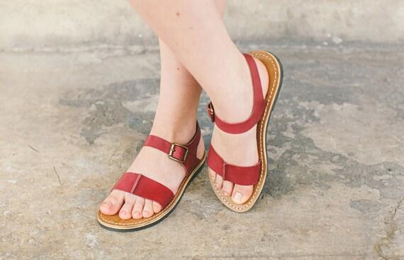 Sandals Women Sandals Slides Sandals Leather Shoes Marsala Leather Sandals Slides Sandals Sandals Summer Handmade Sandals Summer YHpPwqxZ