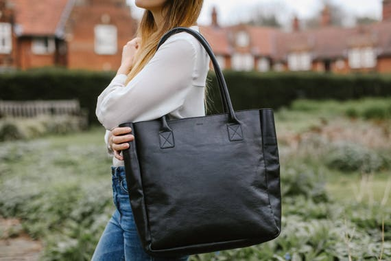 e48863effd leather tote bag leather tote bag with zipper black leather