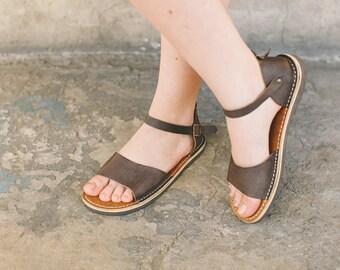 Flat Sandals, Boho Sandals, Leather Sandals, Flat Leather Sandals, Summer Shoes, leather flats, Brown Leather Sandals, Strappy Sandals