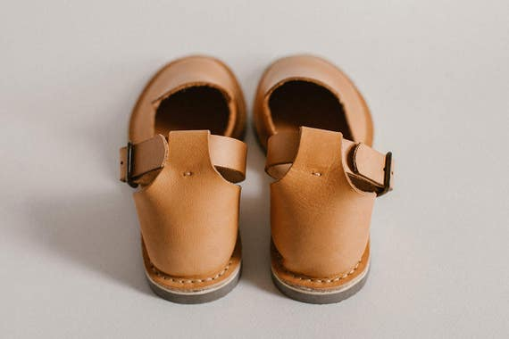 Flats Ankle Leather Shoes Ons Sandals toe Brown Closed Sandals Leather Slip Strap Leather Carmel Loafers Sandals Summer Light ZUwq161a