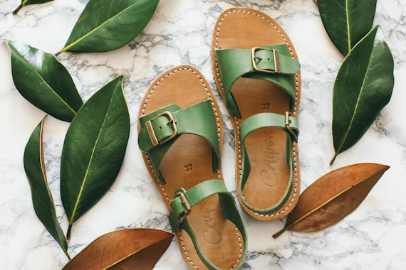 Sandals Boho Leather women's Sandals Sandals Greenery shoes Sandals Strappy Summer Sandals Casual Sandals Comfortable Sandals Summer HY5wWa