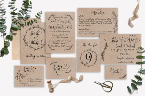 Matching Save The Date And Wedding Invitations