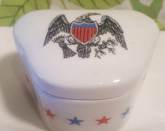 Vintage 1970s Eagle Trinket Box By Trina