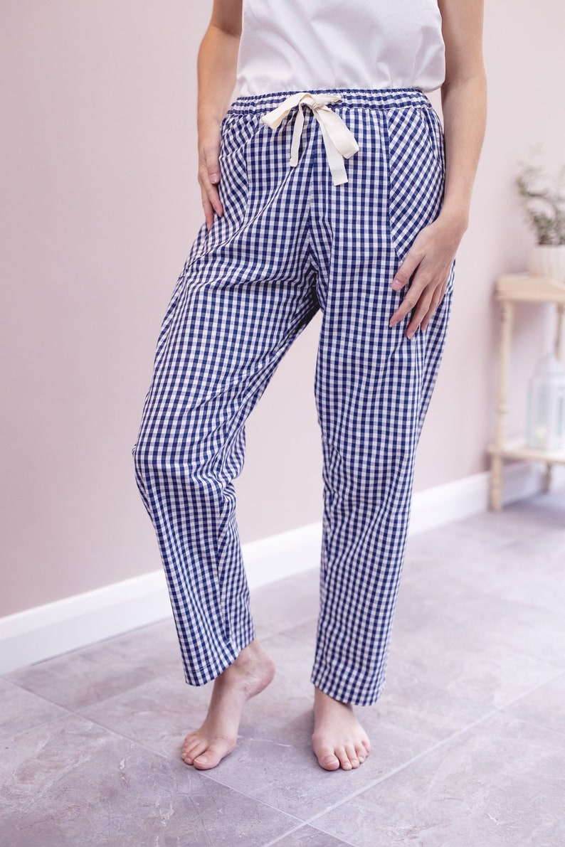 1eb3e475f Organic Cotton gingham pyjama trousers organic cotton pj