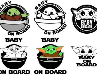 Mother/'s Day gift Hoth Empire Strikes Back bumper sticker Little wampa on board decal Star Wars baby on board decal Car  laptop sticker