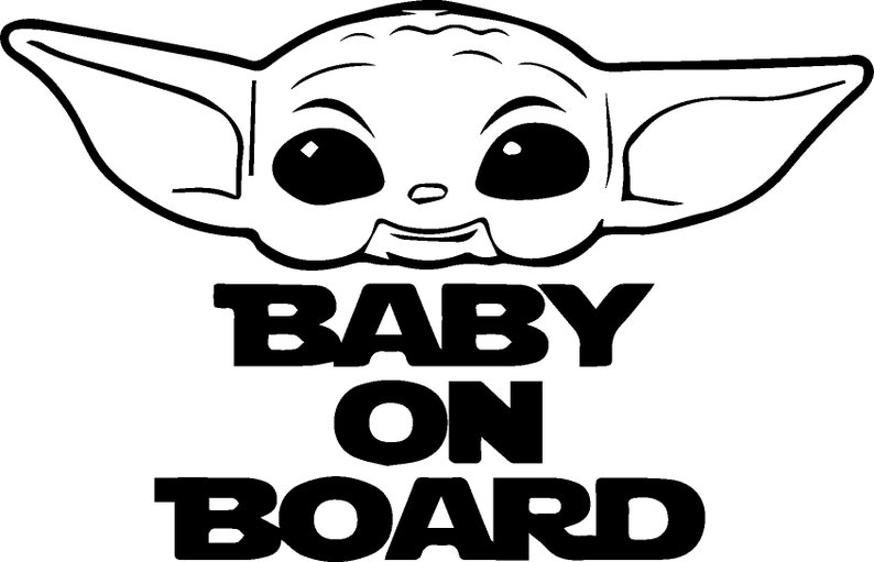 Download Baby Yoda png svg Cricut Image Star Wars Art Collection ...