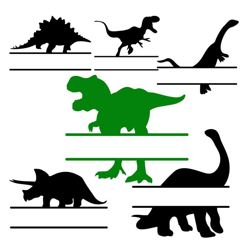 Download Dinosaur Split Monogram SVG PNG Dxf Eps Cricut Cut File | Etsy